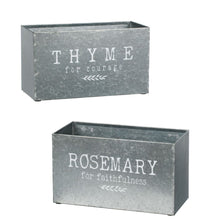 Load image into Gallery viewer, Rosemary & Thyme Planters, Set of 2