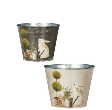 Rabbit Planters, set of 2