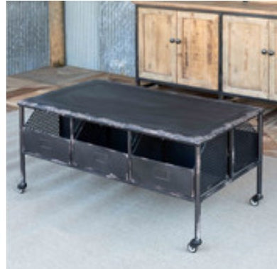 Industrial Metal Coffee Table