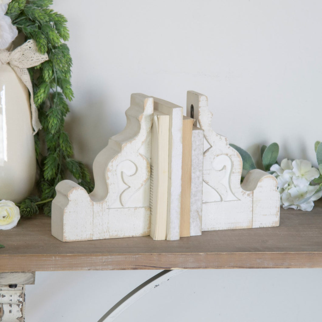 Aged White Corbels, Set of 2