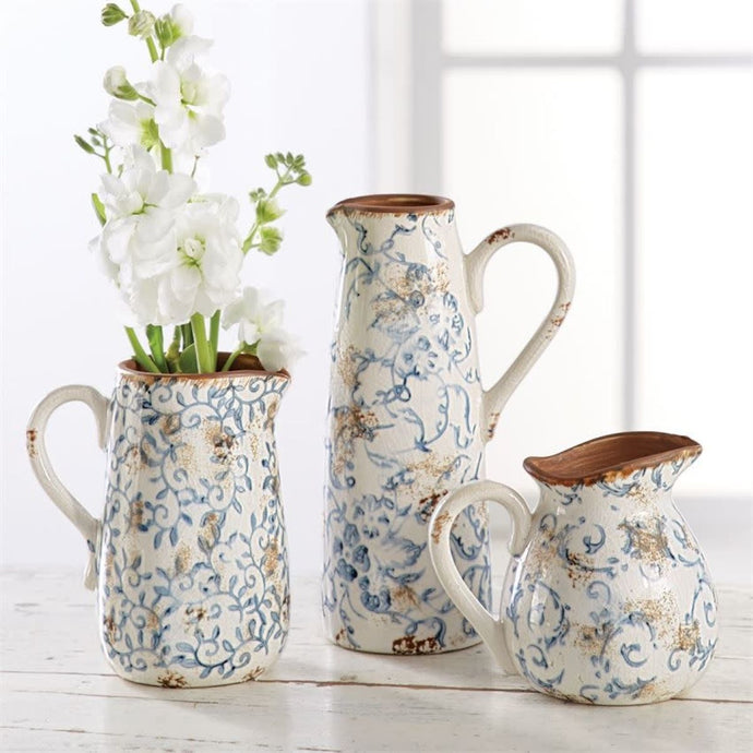 Cottage Mini Pitcher by Mud Pie