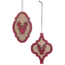 Load image into Gallery viewer, Deer Cutout Ornaments, Set of 2
