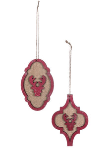 Deer Cutout Ornaments, Set of 2