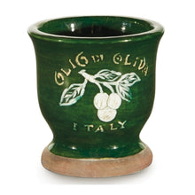 Load image into Gallery viewer, Italian Footed Olive Pot