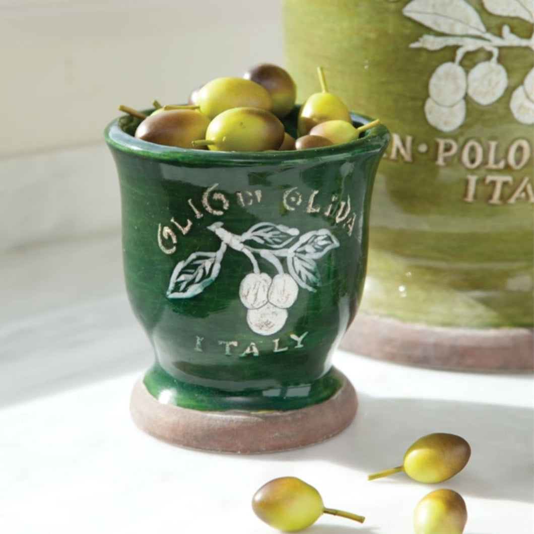 Italian Footed Olive Pot