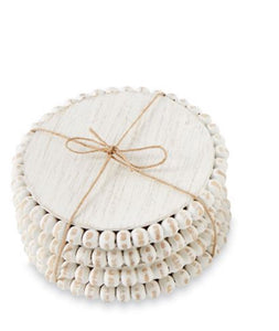 Beaded Wood Coaster Sets