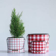 Load image into Gallery viewer, Red Gingham Buckets