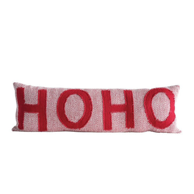 Festive Long Ho Ho Pillow