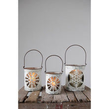 Load image into Gallery viewer, Metal Snowflake Cutout Lanterns, Set of 3