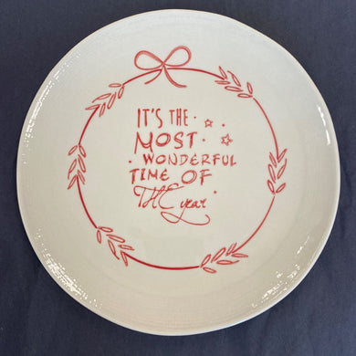 Most Wonderful Time Plate