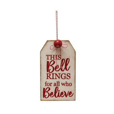 Oversized Believe Jingle Tag