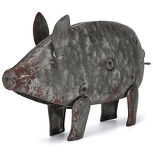 Load image into Gallery viewer, Galvanized Metal Pig