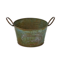 Load image into Gallery viewer, Jardin Greenwash Metal Planters, Set of 3