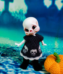 Boo, The chubby halloween baby skeleton!