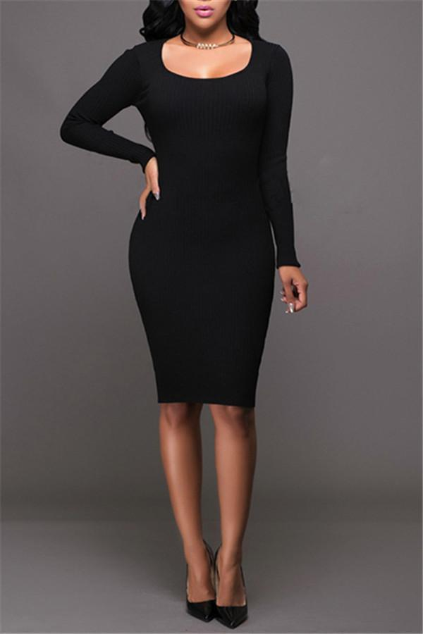 Sexy Knitting Backless Bodycon Dresses