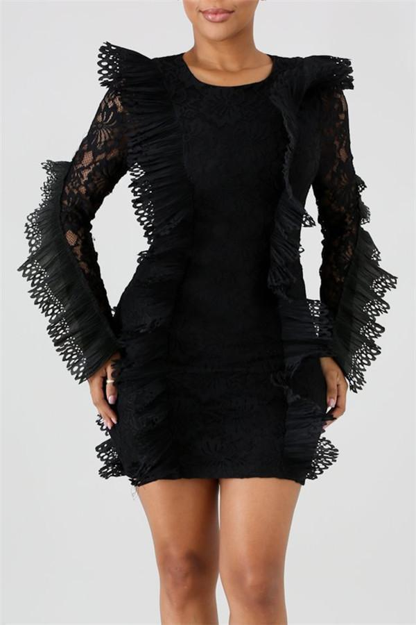 Sexy Lace Stitching Bodycon Dresses