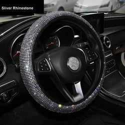 Luxury Crystal Colorful Rhinestone Car Steering Wheel Covers Women Diamante Car Covered Steering-Wheel Case Interior Accessories