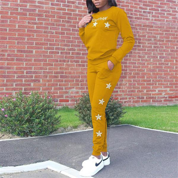 Fashionable leisure star sports suit