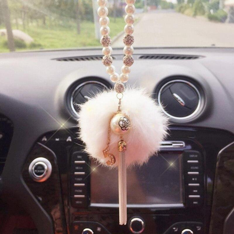 JOORMOM small fragrance digital rhinestone car pendant car hang car diamond rearview mirror car interior accessories for women