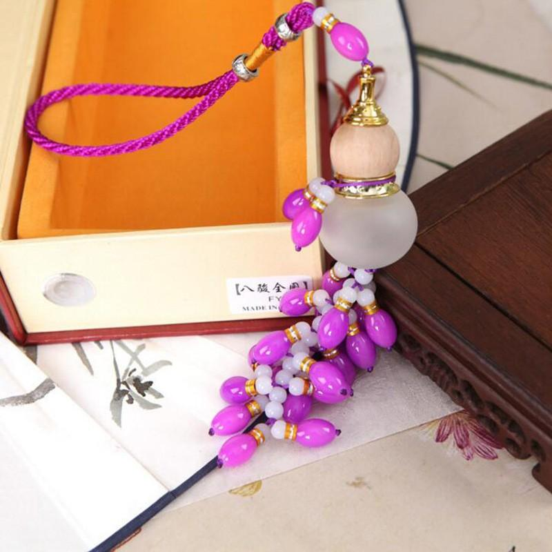 Wholesale Glass Pendant Car Interior Supplies Fuk Gourd Ornaments Decoration perfume bottle for Car