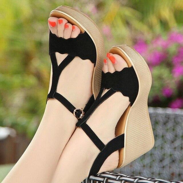 STAN SHARK Women Sandals Platform High Heels Sandals Women Summer Shoes Ladies Sandal Heels Wedge Open Toe sandalia plataform