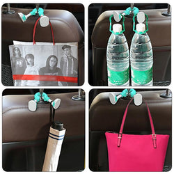 Car Hook Cartoon Ankle Hook Car Seat Back Storage Rack Cute Hanging Hook Universal auto Hanger Bag Organizer Clips auto products