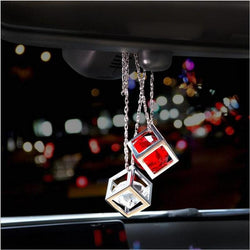 Car Pendant Crystals Rubik's Cube Car Charms Rear View Mirror Decoration Automobile Ornaments Hanging trims Interior Suspension