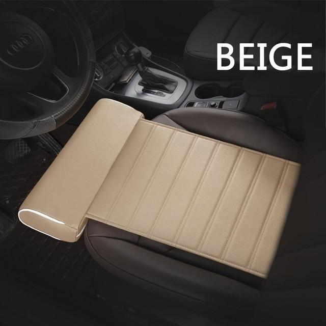Car Seat Cushion Foot Support Leather Pillow Leg Longer Car Seat Cushion Knee Pad Thigh Support Pillow Car Accessories