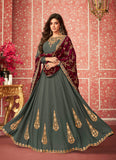 Gryesh Green and Magetna Embroidered Anarkali