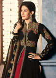 Black and Red Embroidered Lehenga Anarkali