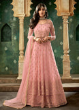 Pink and Gold Embroidered Lehenga Anarkali