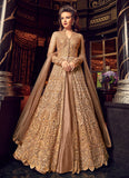 CHAMPAGNE GOLD EMBROIDERED PANT/LEHENGA STYLE ANARKALI