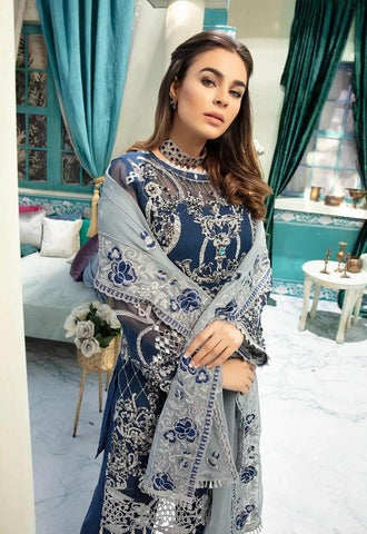 NavyBlue Embroidered pakistani style suit