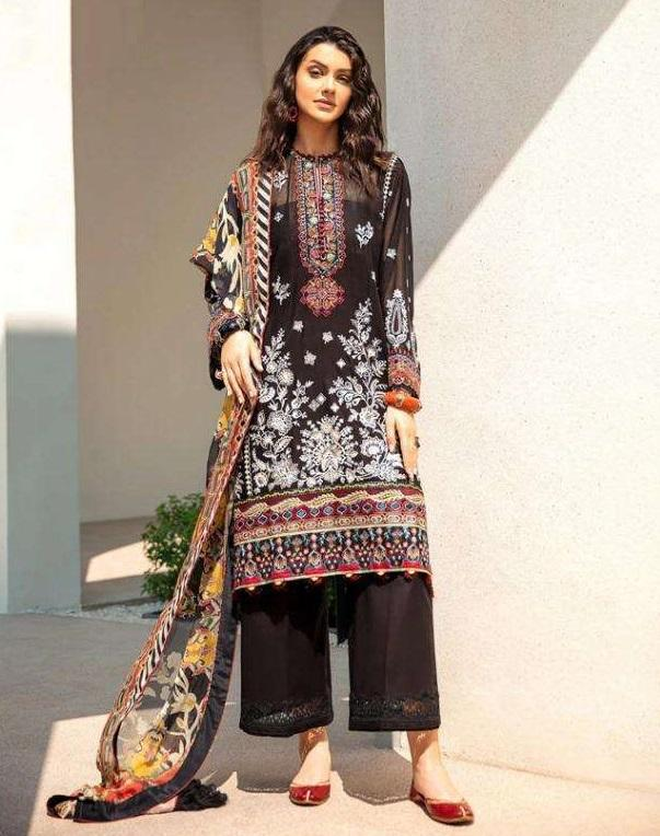 BROWN EMBROIDERED PAKISTANI STYLE SUIT