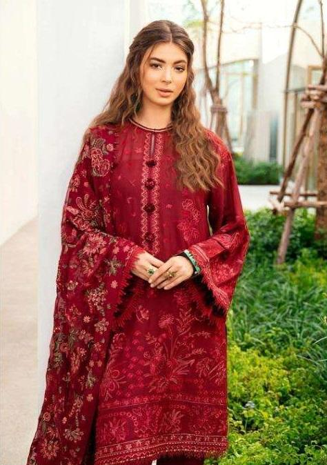 RED EMBROIDERED PAKISTANI STYLE SUIT