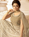 Light Grey Embroidered Anarkali
