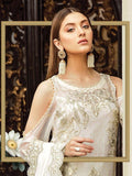 OFF WHITE EMBROIDERED PAKISTANI STYLE SUIT