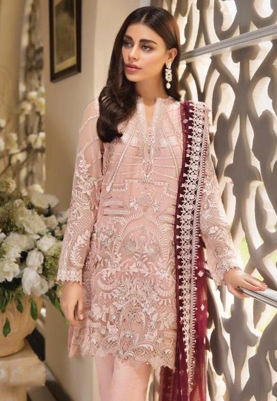 BEIGE EMBROIDERED PAKISTANI STYLE SUIT