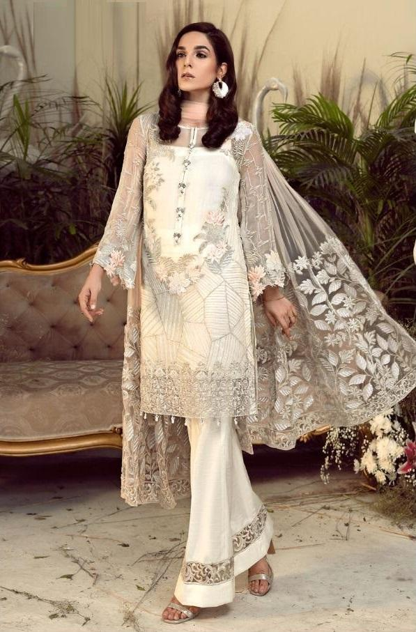 CREAM EMBROIDERED PAKISTANI STYLE SUIT