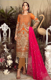 ORANGE EMBROIDERED PAKISTANI STYLE SUIT