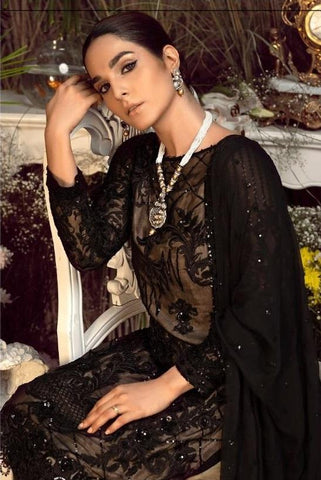 BLACK EMBROIDERED PAKISTANI STYLE SUIT