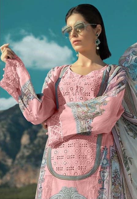BABY PINK EMBROIDERED PAKISTANI STYLE SUIT