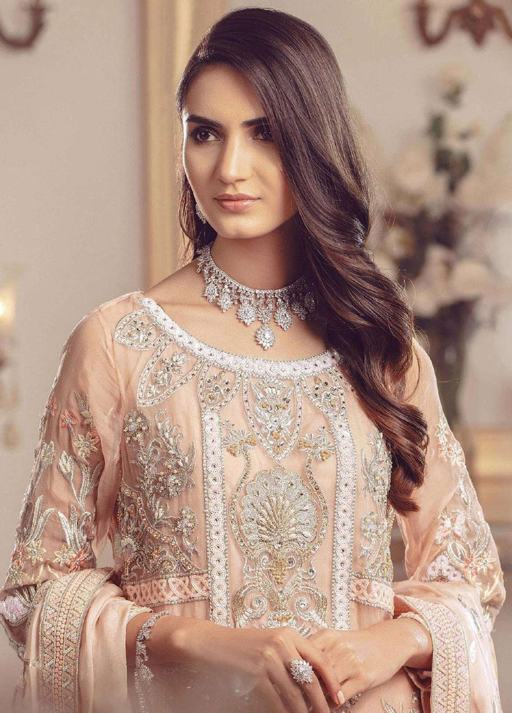 LIGHT PEACH EMBROIDERED PAKISTANI STYLE SUIT