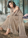Light Grey Embroidered Lehenga/ Gharara Suit