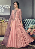 Light Peach Embroidered Anarkali