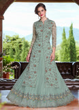 Light Blue Embroidered Lehenga/ Pant Style Suit