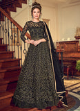 Black and Gold Embroidered Lehenga/ Pant Style Anarkali