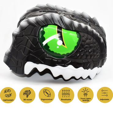 Animiles 3D Helmet Kids - Black Dragon