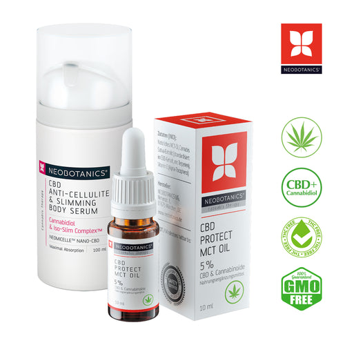 CBD Anti-Cellulite Serum & CBD MCT Öl 5%