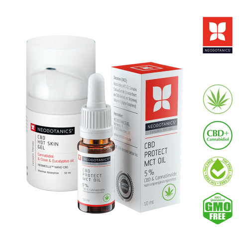 CBD Hot Skin Gel 50ml & CBD MCT Öl 5%
